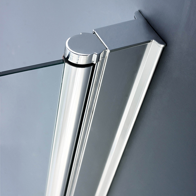 Hinged Pivot Shower Screen Glass Fittings Bath Screen