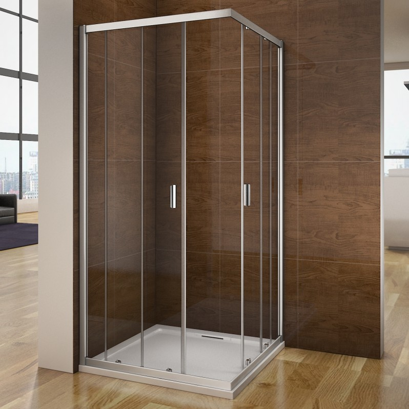 dusche duschkabine schiebet r eckeinstieg duschabtrennung echtglas duschwandm195 ebay. Black Bedroom Furniture Sets. Home Design Ideas