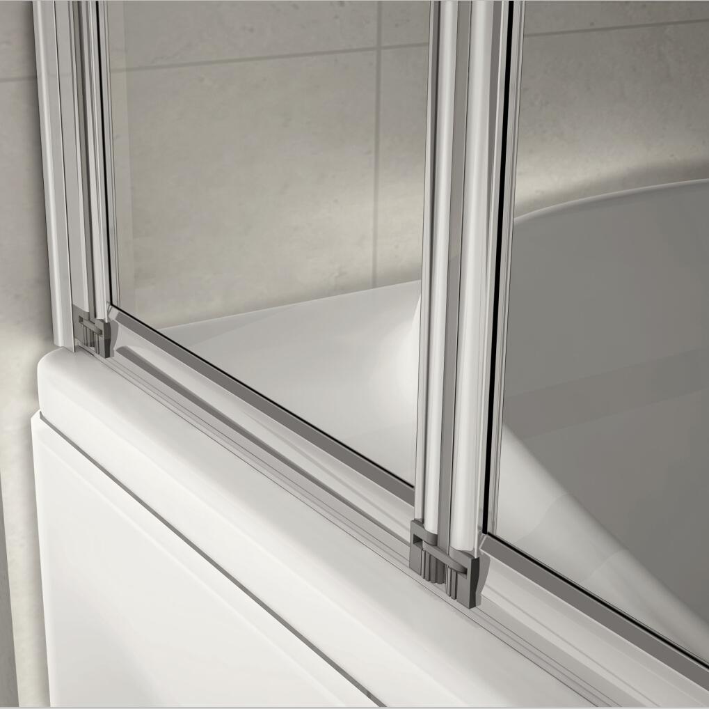 900x1400mm 4Fold Folding Bath Shower Screen Bathroom