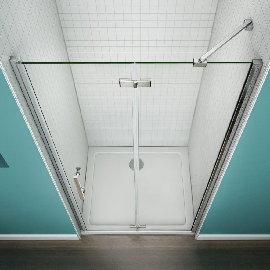 700 760 800 900 1000mm Frameless Hinge Folding Shower