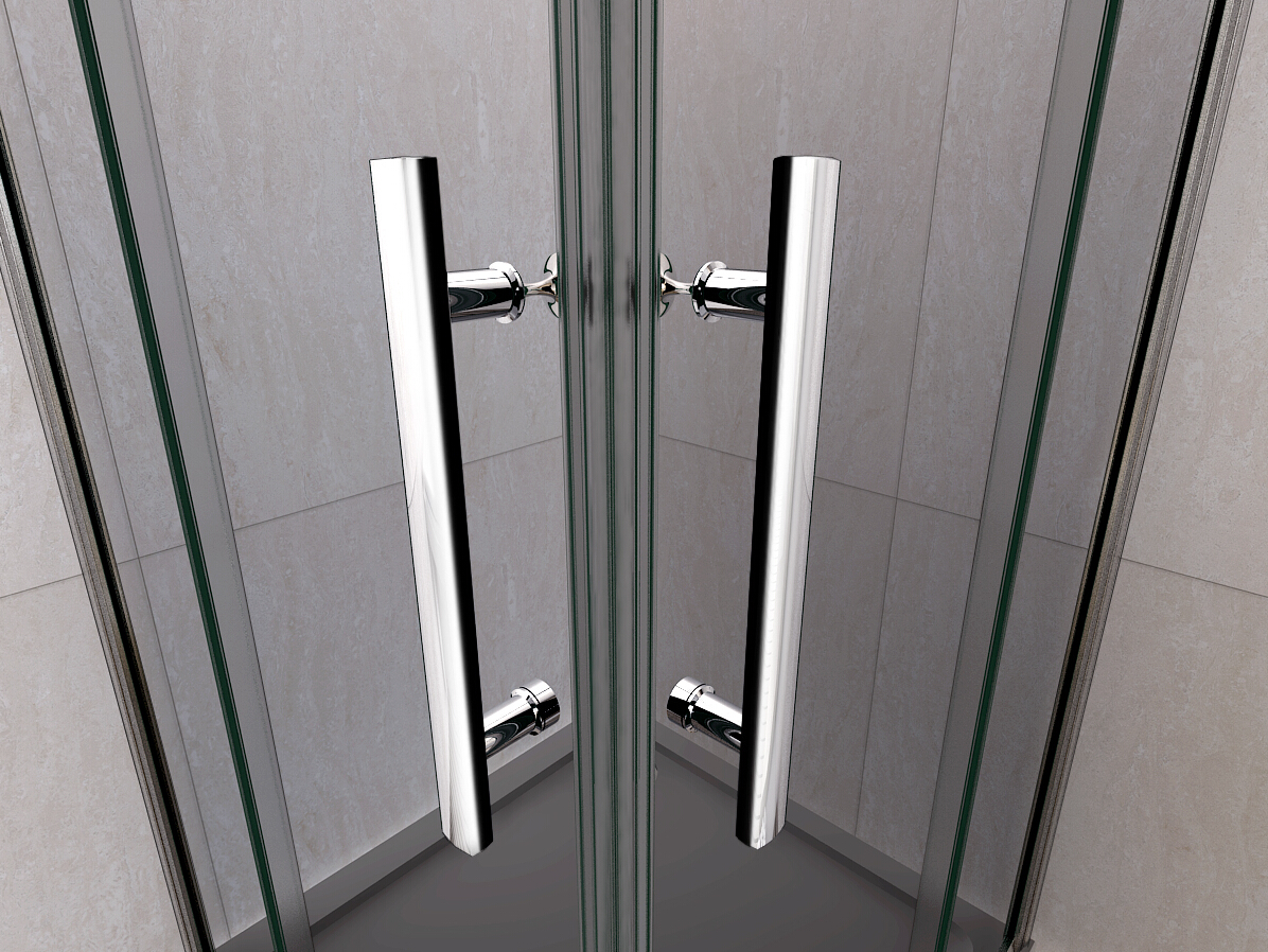 1400x1400mm aica shower enclosure sliding double glass for Double sliding screen door