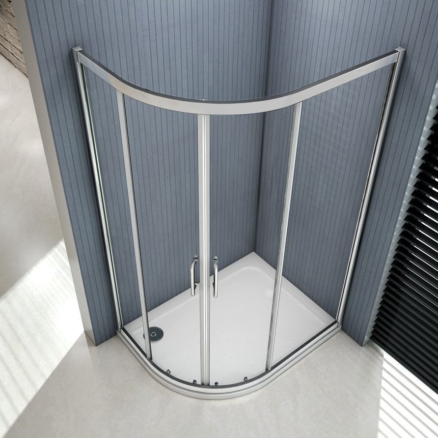 Offset Quadrant Shower Enclosure Walkin Corner Cubicle