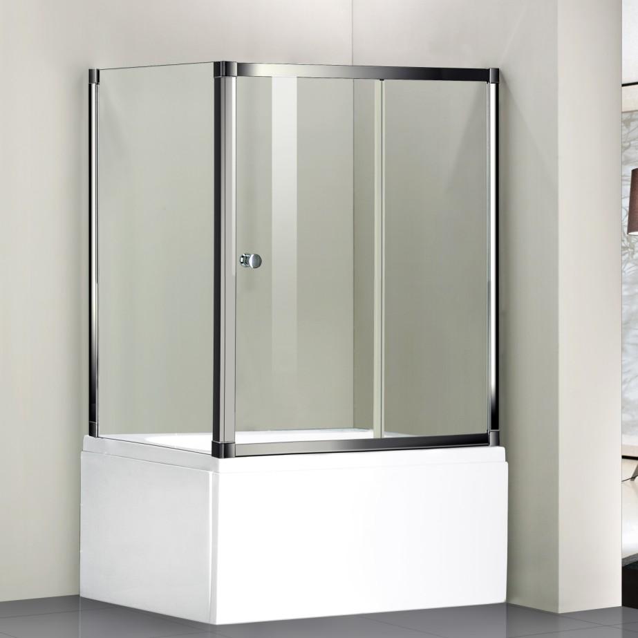 1700x1480mm Sliding Bath Shower Screen Door Side Panel