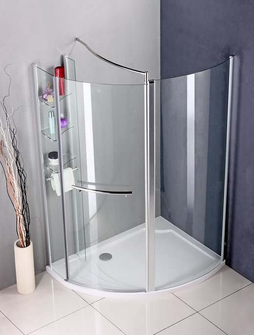 Walk In Shower Enclosure Pivot door Wet Room Cubicle Bathroom ...