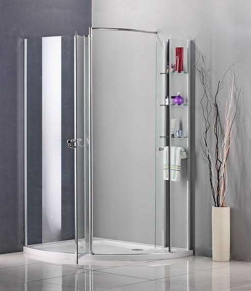 Walk In Shower Enclosure Pivot Door Wet Room Cubicle