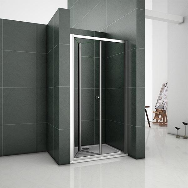 Bifold Walk In Frame Shower Enclosure Glass Door Screen