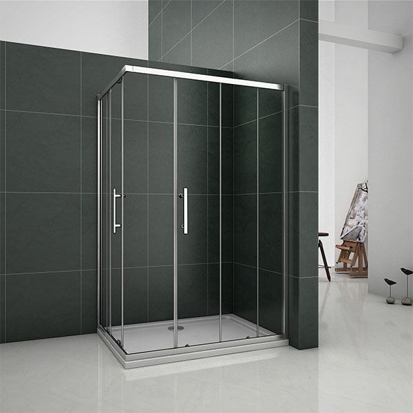 Aica Sliding Shower Enclosure 6mm Glass Door Corner Entry