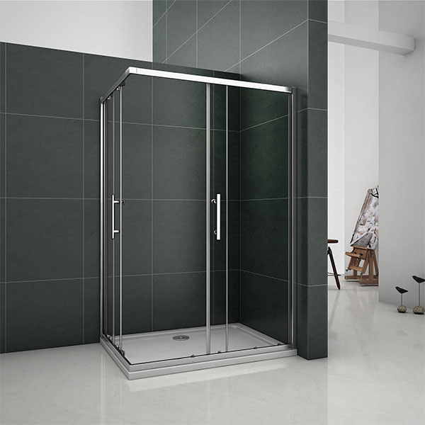 Sliding Cubicle Shower Enclosure 6mm Glass Door Corner