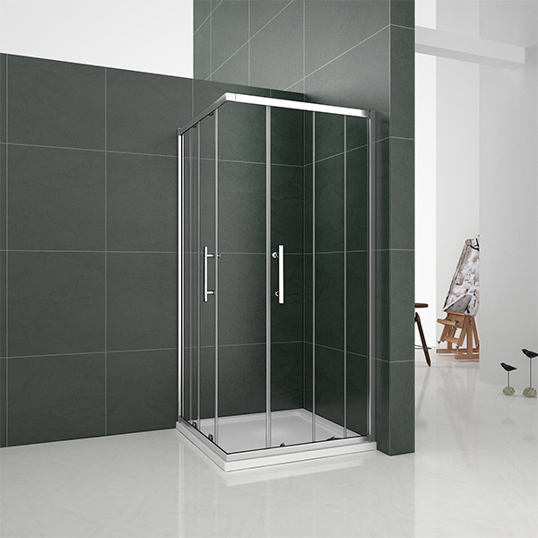 Aica Sliding Shower Enclosure 6mm Glass Door Corner Entry
