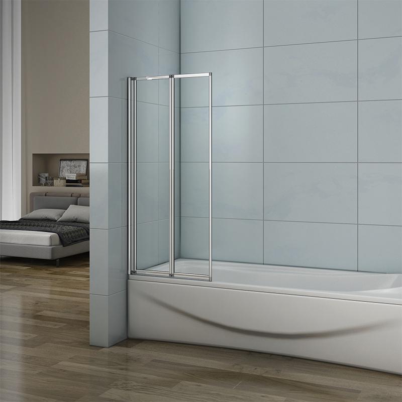800x1400mm 2-Fold Folding Shower Bath Screen Glass Door