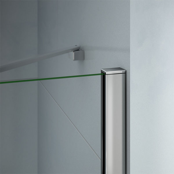 Frameless Hinge Pivot Shower Enclosure And Tray Corner