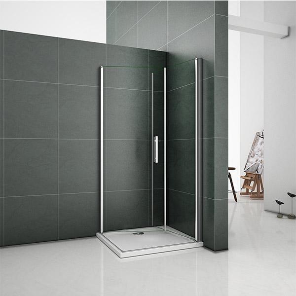 Quality Frameless Pivot Corner Entry Door Shower Enclosure Tempered