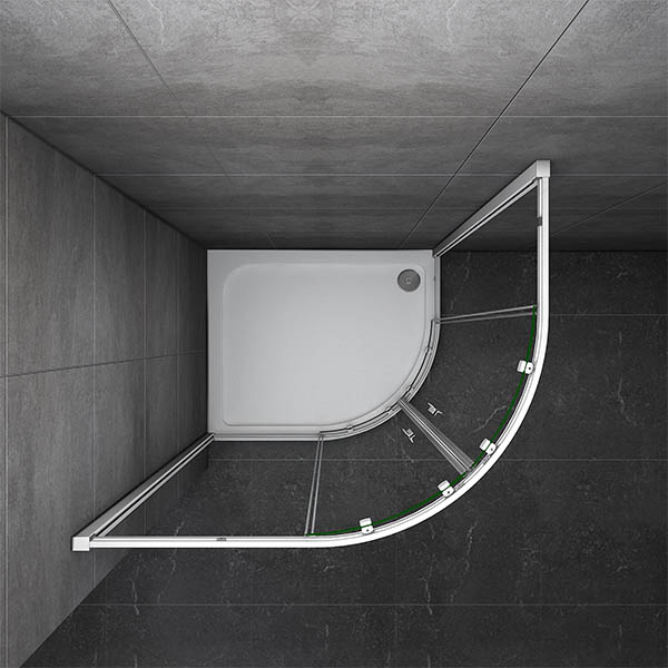 900 215 800mm Quadrant Shower Enclosure And Stone Tray Corner