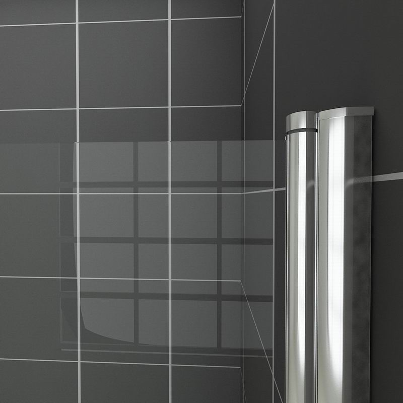 Chrome 180 176 Pivot Shower Bath Screen 800x1400mm