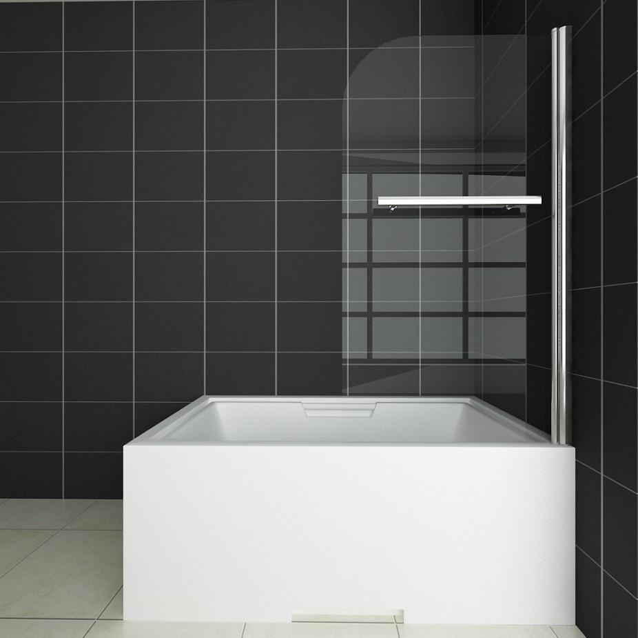 Bathroom 180°Pivot Hinge Folding Bath Shower Screen Over Bath Door ...