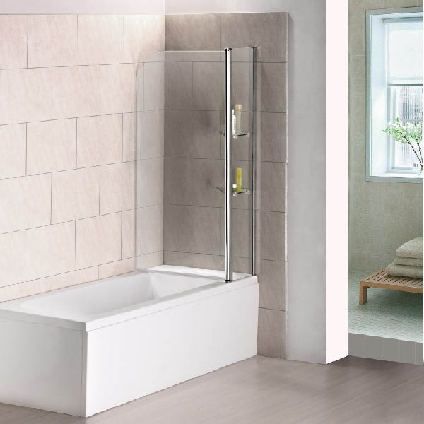 240 176 Pivot 1000x1400mm 6mm Glass Over Bath Screen Shower