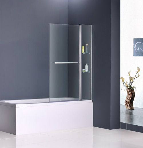 100x140cm duschabtrennung badewannenfaltwand 180. Black Bedroom Furniture Sets. Home Design Ideas
