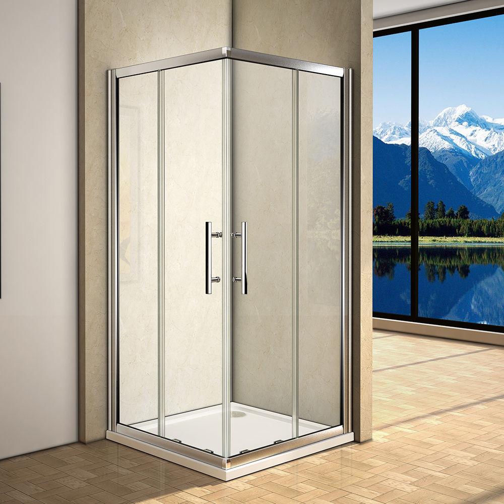 Cabina de ducha 2 fijos 2 puertas correderas cristal - Quitar cristal templado ...