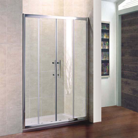Shower Enclosure Double Sliding Door Glass Cubicle Screen