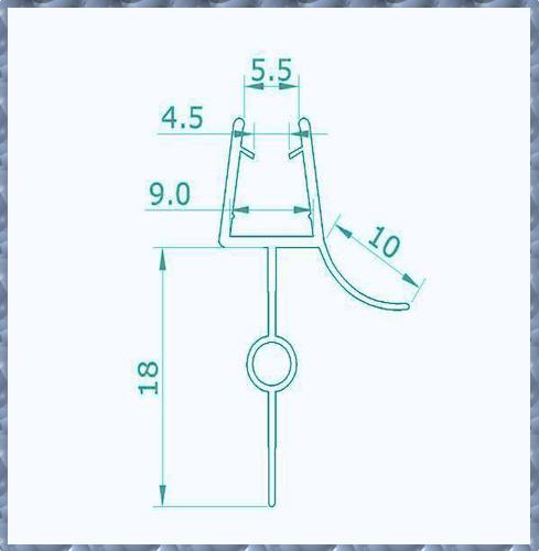 dichtung dichtteil unten f r duschabtrennung duschkabine dusche glas a8 18 ebay. Black Bedroom Furniture Sets. Home Design Ideas
